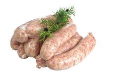 Salsichas da carne crua imagem de stock