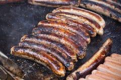 Salsichas de carne de porco Imagem de Stock Royalty Free