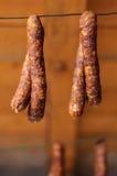Salsichas de carne de porco fumado Imagem de Stock