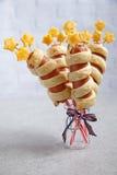 Salsichas decoradas para o Dia da Independência Imagens de Stock Royalty Free