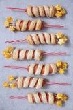 Salsichas decoradas para o Dia da Independência Foto de Stock