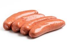Salsichas do alemão da salsicha tipo frankfurter Fotos de Stock