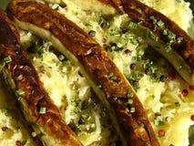 Salsichas do assado com sourrcabbage Fotos de Stock Royalty Free