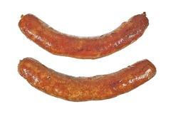 Salsichas fritadas Imagem de Stock Royalty Free