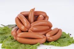 Salsichas fumado (salsicha) Fotos de Stock