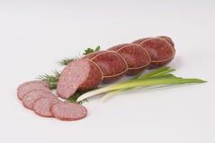 Salsichas fumado (salsicha) Imagens de Stock