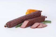 Salsichas fumado (salsicha) Fotografia de Stock