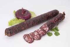 Salsichas fumado (salsicha) Imagem de Stock Royalty Free