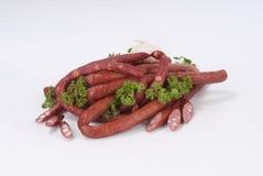Salsichas fumado (salsicha) Fotos de Stock Royalty Free