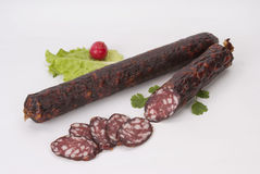 Salsichas fumado (salsicha) Fotografia de Stock Royalty Free