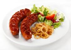 Salsichas grelhadas Imagem de Stock
