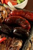 Salsichas grelhadas Imagem de Stock Royalty Free