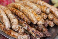 Salsichas grelhadas. Imagens de Stock Royalty Free