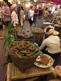 Salsichas grelhadas Fotos de Stock Royalty Free