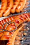Salsichas grelhadas Imagens de Stock