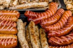 Salsichas grelhadas imagens de stock royalty free