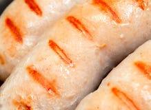 Salsichas grelhadas deliciosas Fotografia de Stock