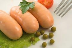 Salsichas pequenas Imagem de Stock Royalty Free