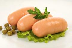 Salsichas pequenas Fotos de Stock