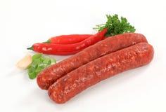 Salsichas picantes imagens de stock