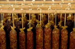 Salsichas rústicas Fotografia de Stock Royalty Free