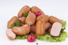 Salsichas (salsicha) Fotografia de Stock