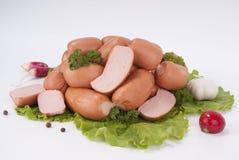 Salsichas (salsicha) Imagem de Stock Royalty Free