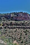 Salt河峡谷,在白色山亚帕基印第安保护区内,亚利桑那,美国 免版税库存照片