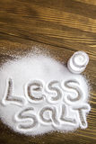 Less salt – medical concept Royalty Free Stock Photography
