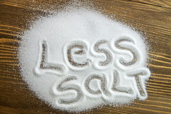 Less salt – medical concept Stock Photography