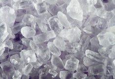 Salt. Macro of a few salt grains Stock Photography