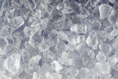 Salt. Macro of a few salt grains Stock Photo