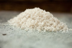 Salt. Close up pile of gourmet salt royalty free stock images