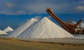 Salt. Production plant bonaire csribean Royalty Free Stock Image