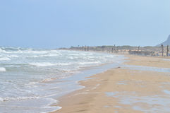 Salt Air - A Remote windy Beach And Sea Royalty Free Stock Image