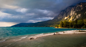 salt alpin lake Arkivfoton