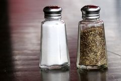 Free Salt And Pepper Shakers Go Together. Stock Photos - 124068223