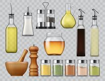 Salt And Pepper Shakers, Kitchen Spices Dispensers Stock Photo