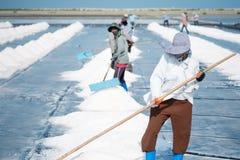 Salt arbetare Arkivfoto