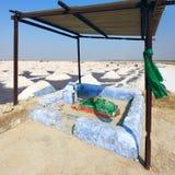 Salt arbeten, Sambhar salt lake, Rajasthan, Indien Arkivbilder