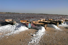 Salt area, lac Rose, Senegal. Royalty Free Stock Photography