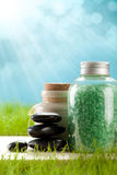 salt aromatherapy bad Arkivfoton