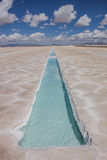 Salinas Grandes salt basin Royalty Free Stock Photography