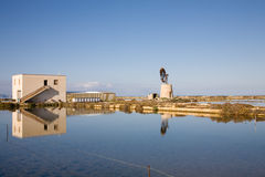 Salt basin, Trapani Royalty Free Stock Photography