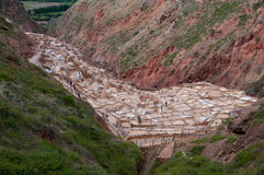 Salt Basins at Maras, Peru Stock Photo