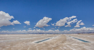 Salinas Grandes salt basins Royalty Free Stock Photo