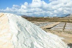 Salt basins in saline de Janubio Stock Photo