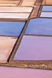 Salt basins in Salino de Janubio, Lanzarote Stock Image