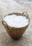 Salt in basket Stock Photo