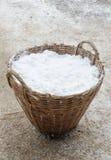 Salt in basket Stock Photo
